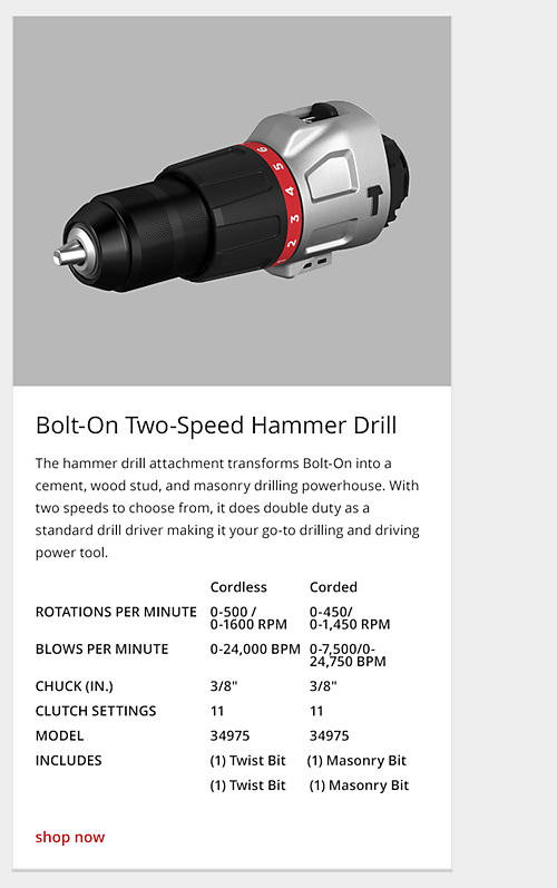 two-speed hammer drill
