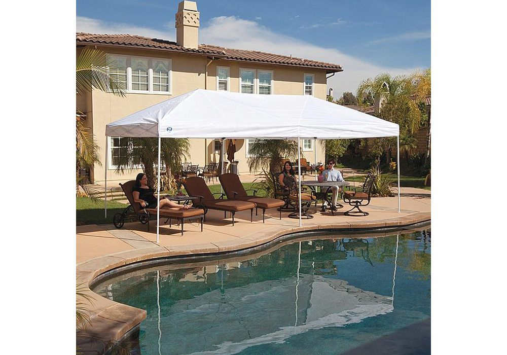 Z-Shade Everest 10' x 20' White Instant Canopy