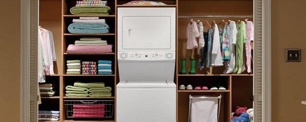 Laundry center inside a closet
