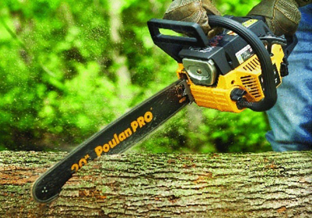 Gas-powered chain saws