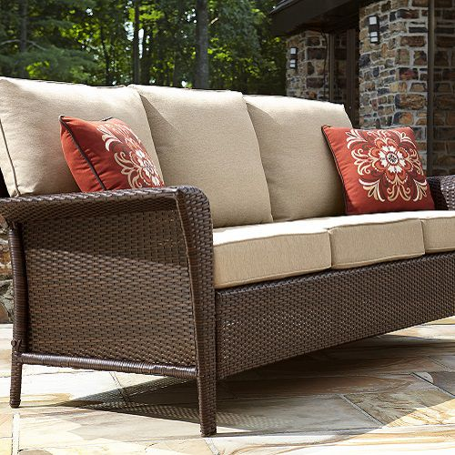 Keep patio furniture cushions clean