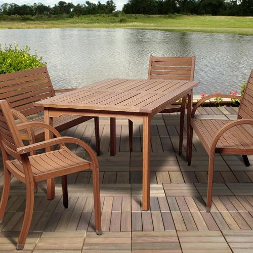 Stained patio furniture