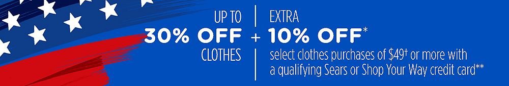 Up to 30% off clothes