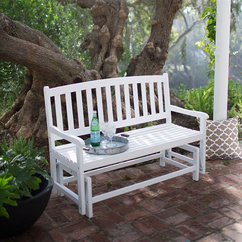 Outdoor seating under a tree