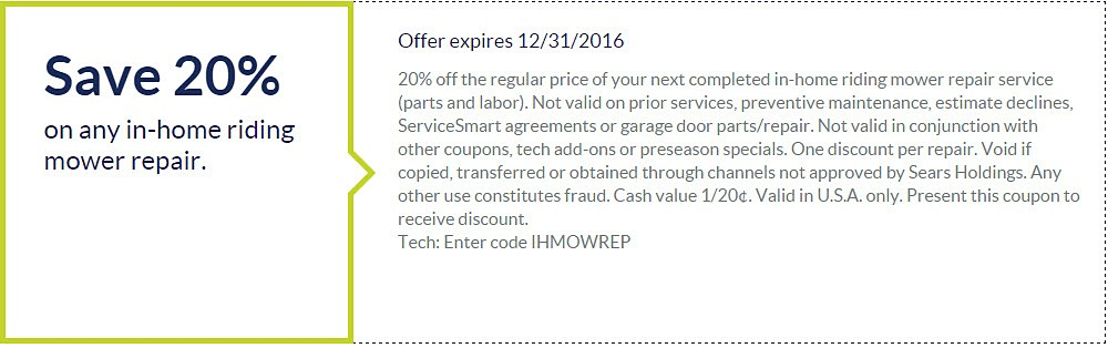Appliance Repair Coupon