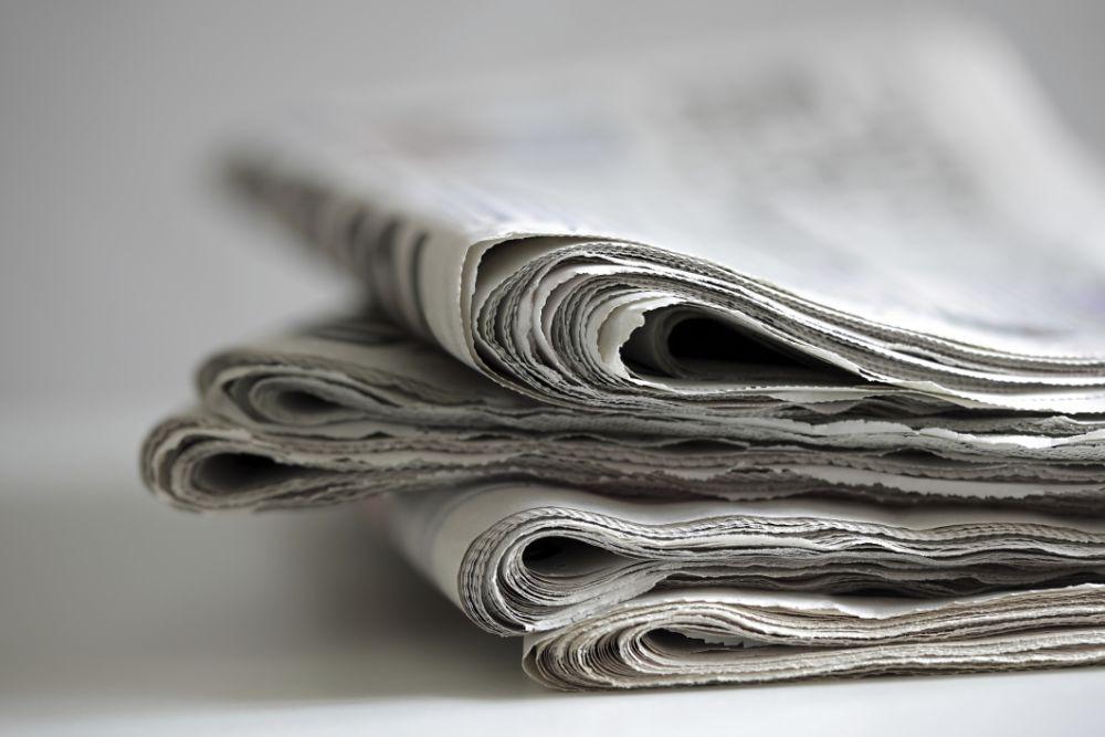 Newspaper or paper towels