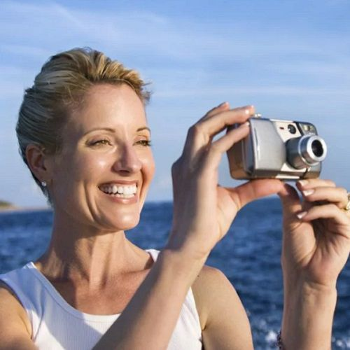 Taking pictures with a point-and-shoot camera