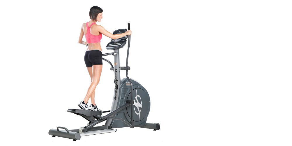 Exercising on an elliptical