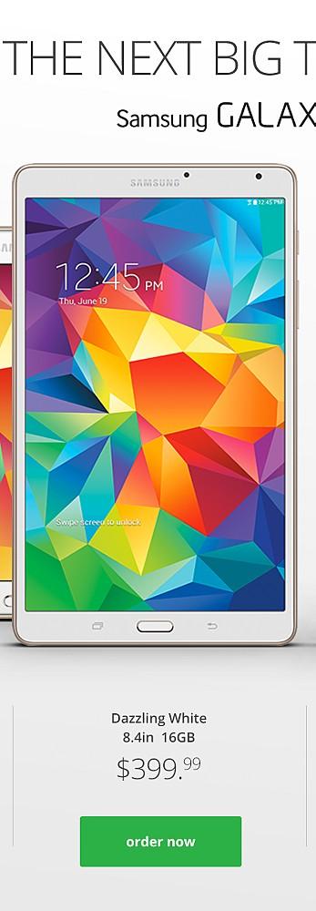 Dazzling White 8.4 16gb $399.99
