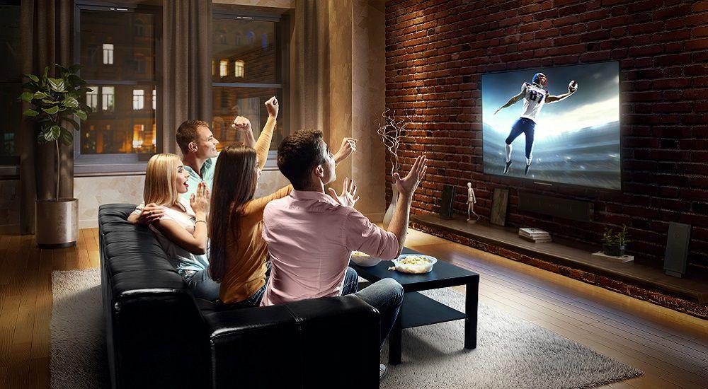 Watching football in surround sound