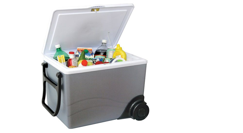 Fill a cooler with your favorite drinks and snacks