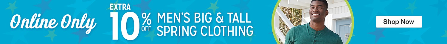 10% off Big & Tall
