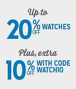 Up to 20% Off Watches + Extra 10% Off with Code:  WATCH10