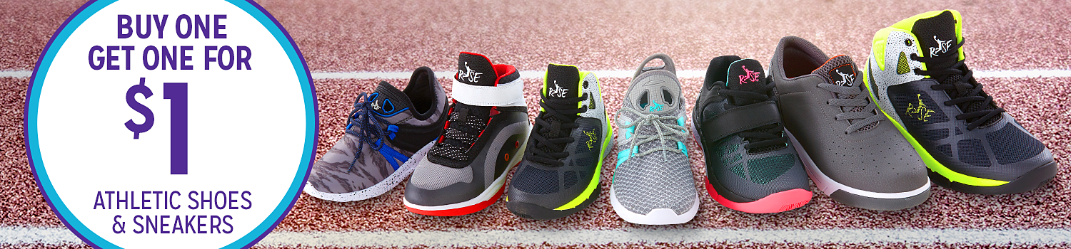 Buy one pair, get one for $1 athletic shoes & sneakers for the family