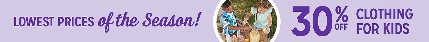 Buy One, Get One 50% off Kids and Baby Clothing!