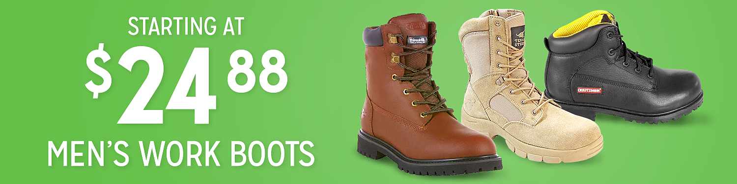 Work boots starting at $24.88