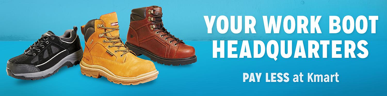 Men's work boots at Kmart