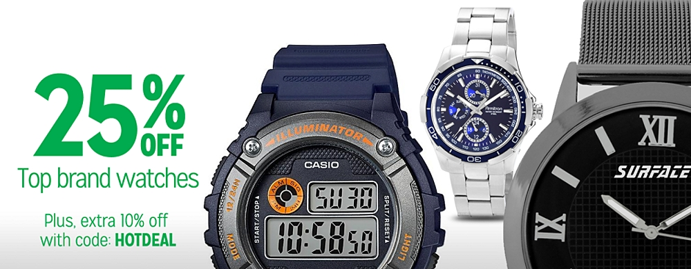 25% off Watches
