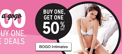 buy one get one 50% off intimates