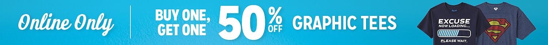 BOGO 50% off Graphic Tees