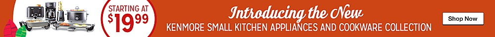 Introducing the NEW KENMORE Small Kitchen Appliances and Cookware collections