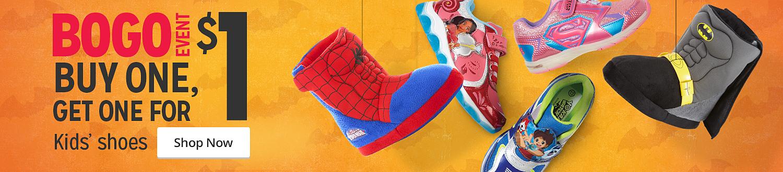 BOGO $1 Kids' Shoes