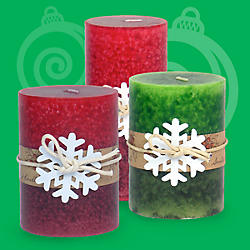 Pillar Holiday Candles