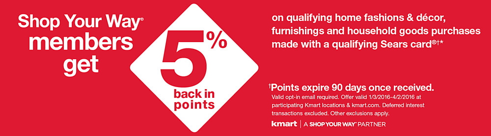 Shop You Way members get 10% back in points