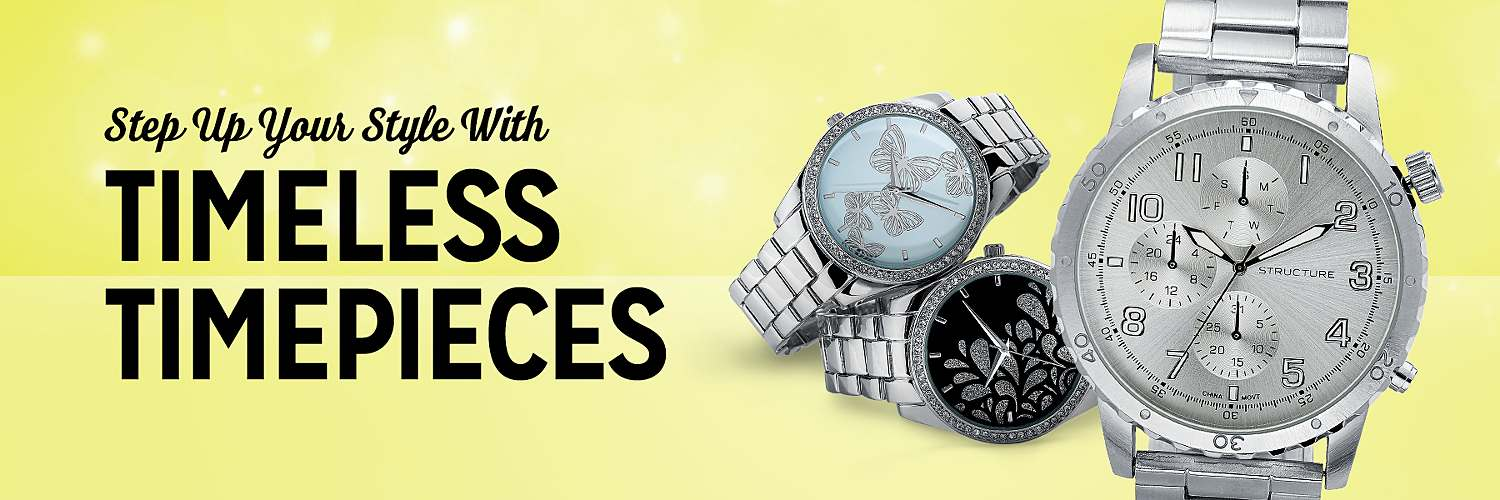 Step up your style with timeless timepieces