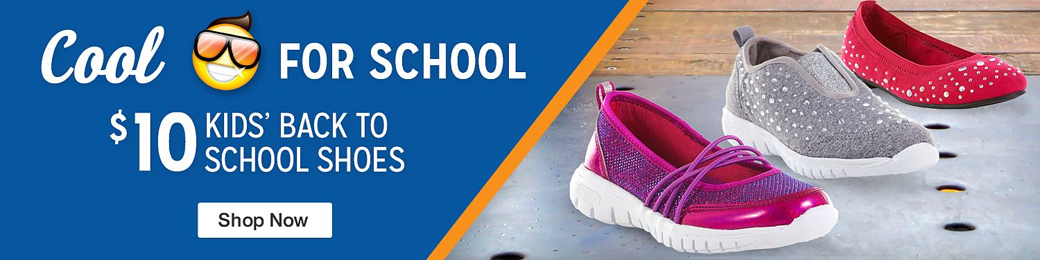 $10 kids back to school shoes