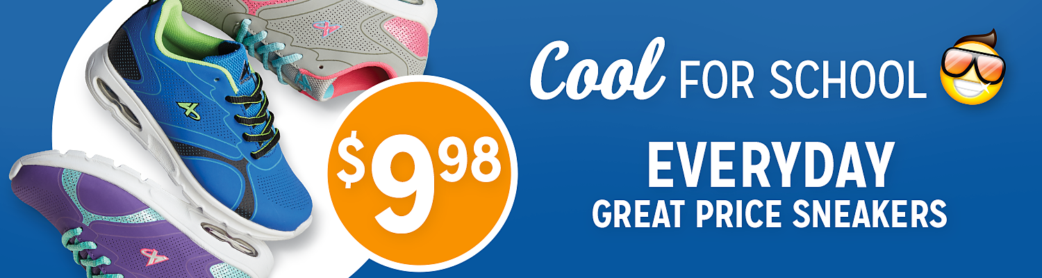$9.98 Everyday Great Price Sneakers
