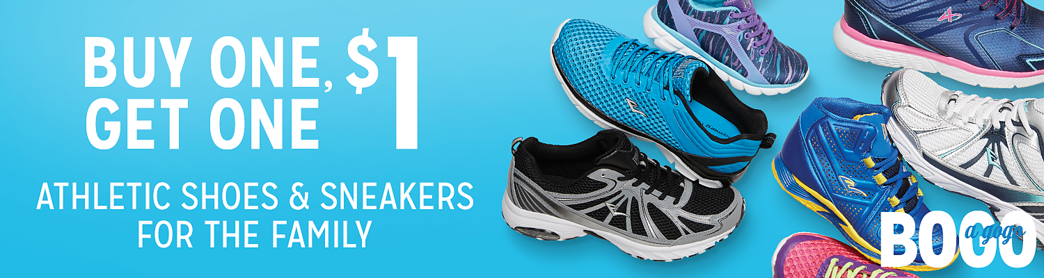 BOGO $1 Athletic Shoes & Sneakers