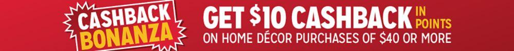 Get $10 cashback in points on $40