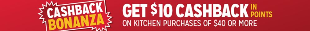 Get $10 cashback in points on $40