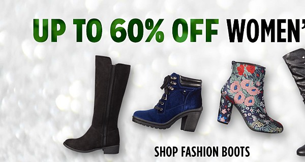 Up to 60% off women's fashion boots & slippers