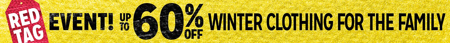 Red Tag Event! 60% Off Winter Clothing