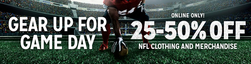 ONLINE ONLY 25%-50% Off NFL Clothing and Merchandise