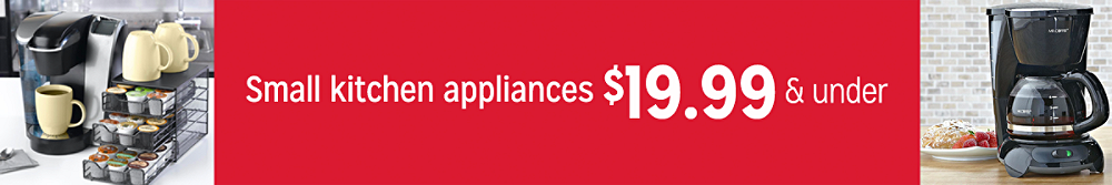 Small kitchen appliances $19.99 and under