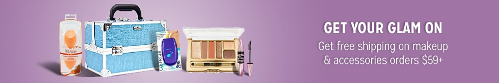 Get free shipping on makeup & accessories orders $59+