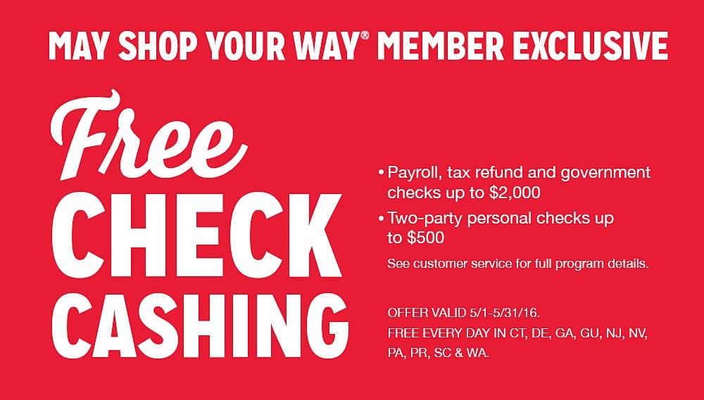 Free Check Cashing