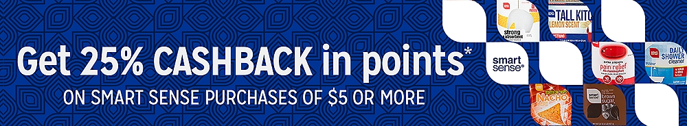 25% CASHBACK in points