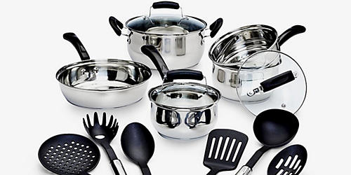 Sale $29.99, Essential Home 14-pc. cookware set