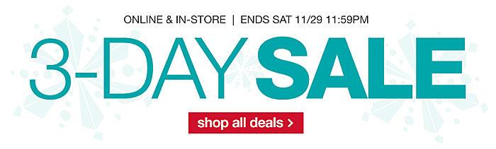 3-day&#x20&#x3b;sale