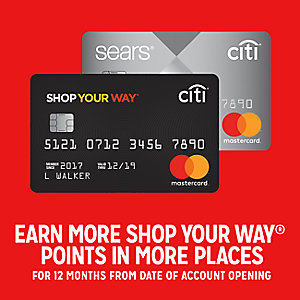 Earn more Shop Your Way points in more places for 12 months from date of account opening