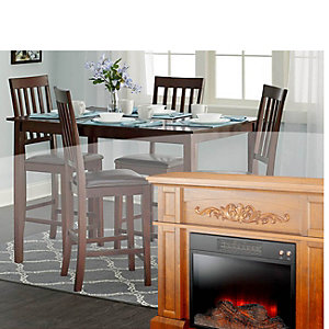 All fireplaces & dining sets on sale