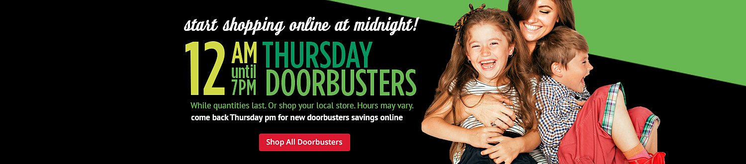 Thursday AM doorbusters