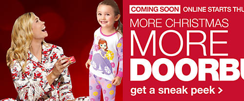 Coming soon More Christmas, More Doorbusters