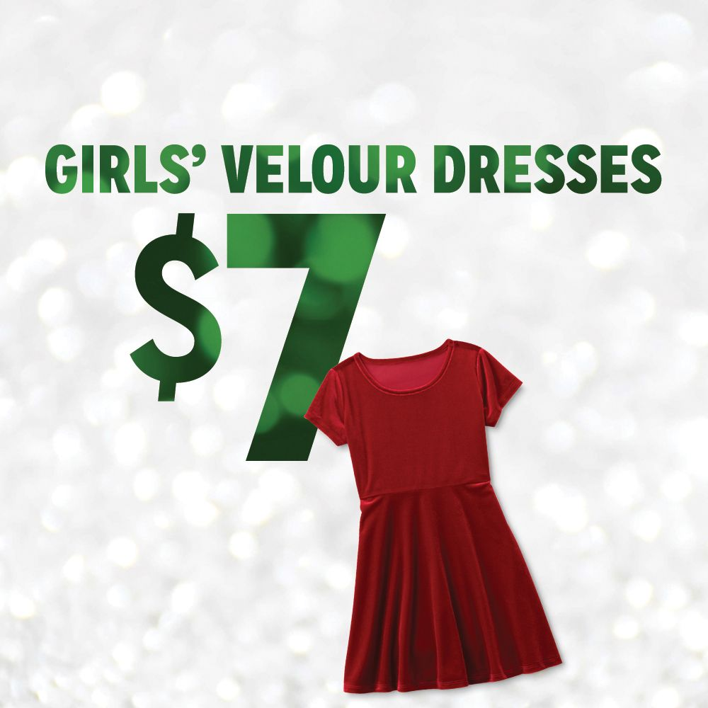 $7 Girls' Velour Dresses