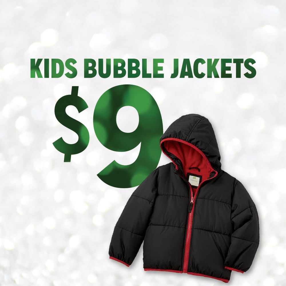 $9 Kids Bubble Jackets