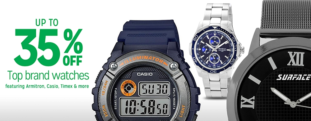35% off Watches